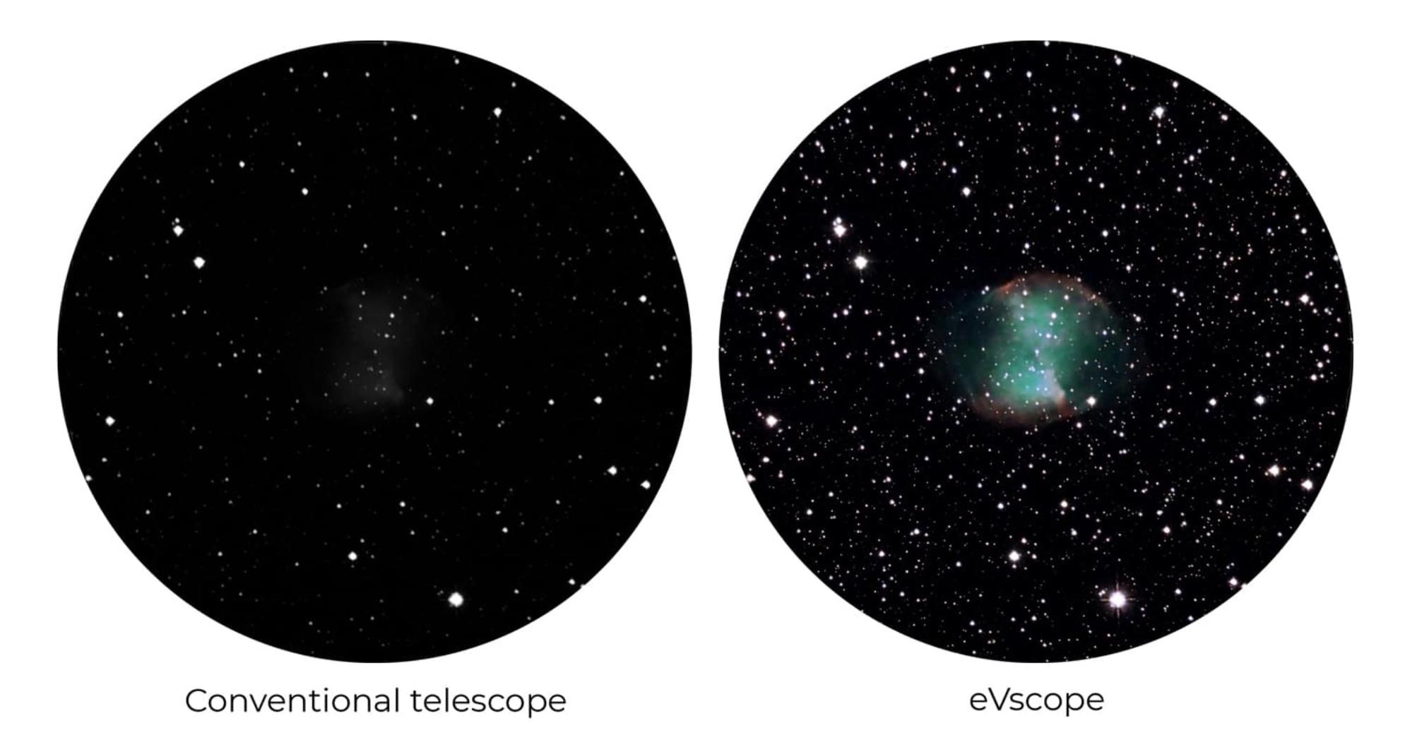 Evscope vs telescopio tradicional